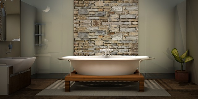 přírodní kámen v koupelně