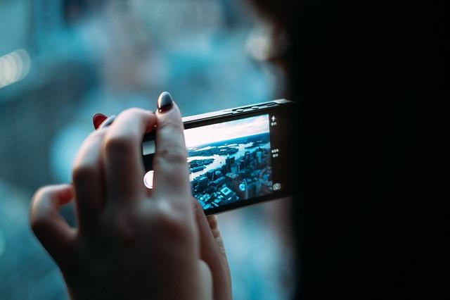 fotka řeky mobilem
